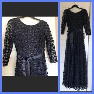 ASL Tahari navy evening dress size 2 NWT